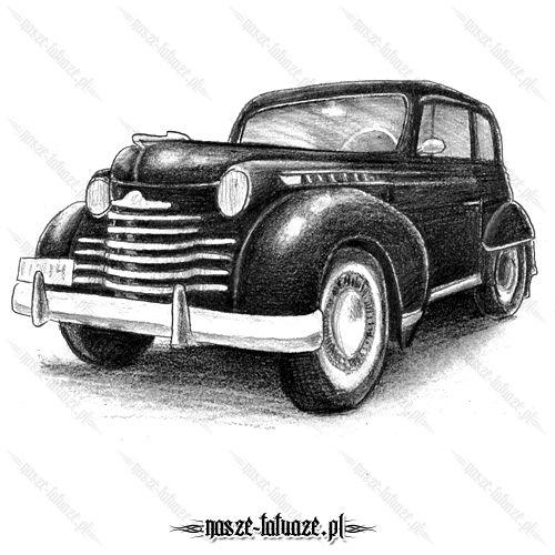 Czarny zabytkowy samochód