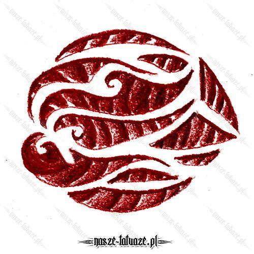 Czerwony tribal