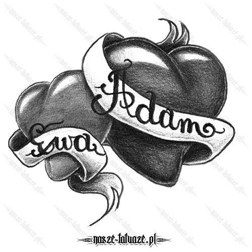 Dwa serca z imionami