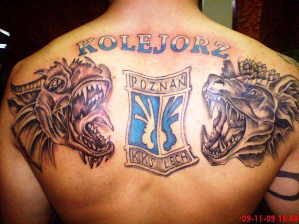 Kolejorz Lech Poznań tatuaż