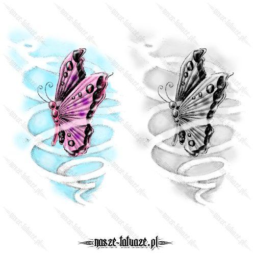 Motyl wśród wstęg