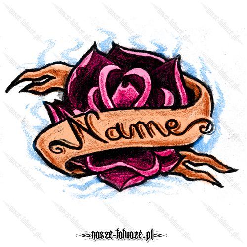 Róża ze wstęgą