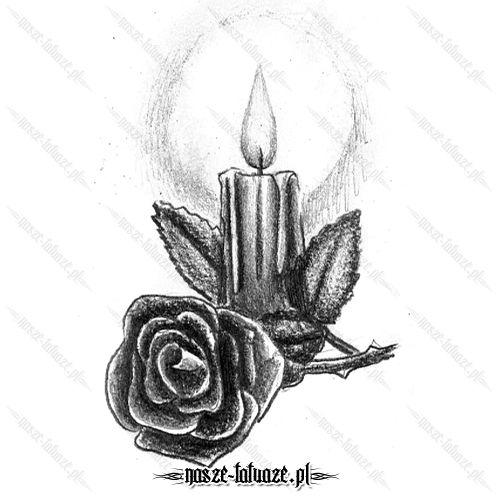 Róża ze świecą
