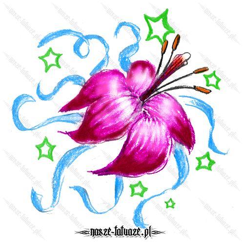 Różowy kwiat lilii