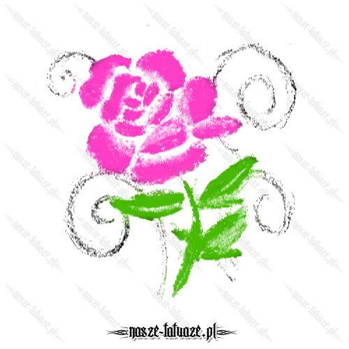 Różowy kwiat tribal