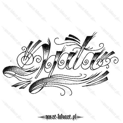 Tatuaż Imię Agata