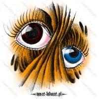 Brązowe i niebieskie oko