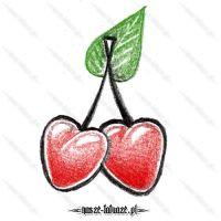 Czerwone wisienki serca