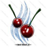 Dwie czerwone wiśnie