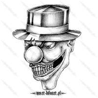 Klaun w kapeluszu