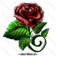 Kwiat róży jak żywy