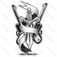Miecz i dwa rewolwery