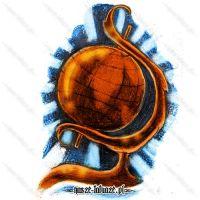 Miedziany globus