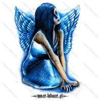 Niebieski anioł kobieta
