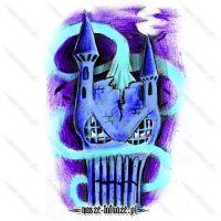 Niebieski zamek z twarzą