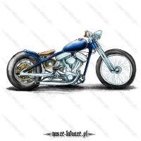 Niebiesko-srebrny motocykl