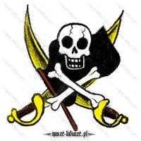 Piracki symbol z szablami