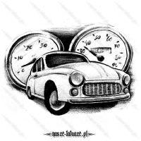 Samochód i dwa zegary