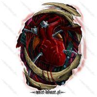 Serce ze śrubami
