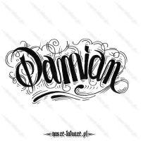 Tatuaż imię Damian