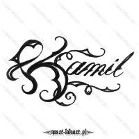 Tatuaż imię Kamil