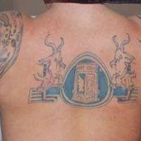 Tatuaż kibica Lech Poznań
