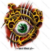 Zielone oko wśród wzorów