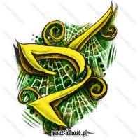 Żółty tribal